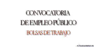 Convocatoria empleo público