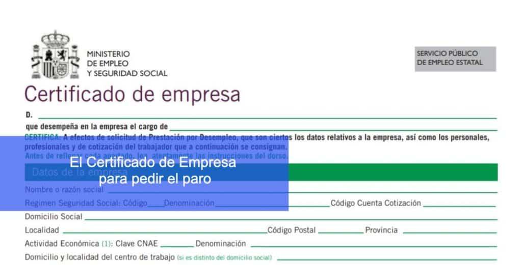 certificado empresa